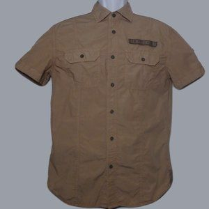 AX Armani Exchange Short Sleeve Shirt Brown Size M